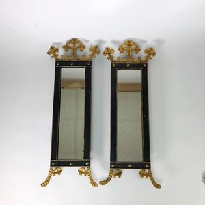 """Ornate crowned mirrors Set of 2 - 22"""" x 8"""" each"""
